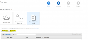 IAM User permissions